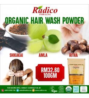 HAIR TREATMENT & HAIR WASH  ( 100% Certified Organic Powder )